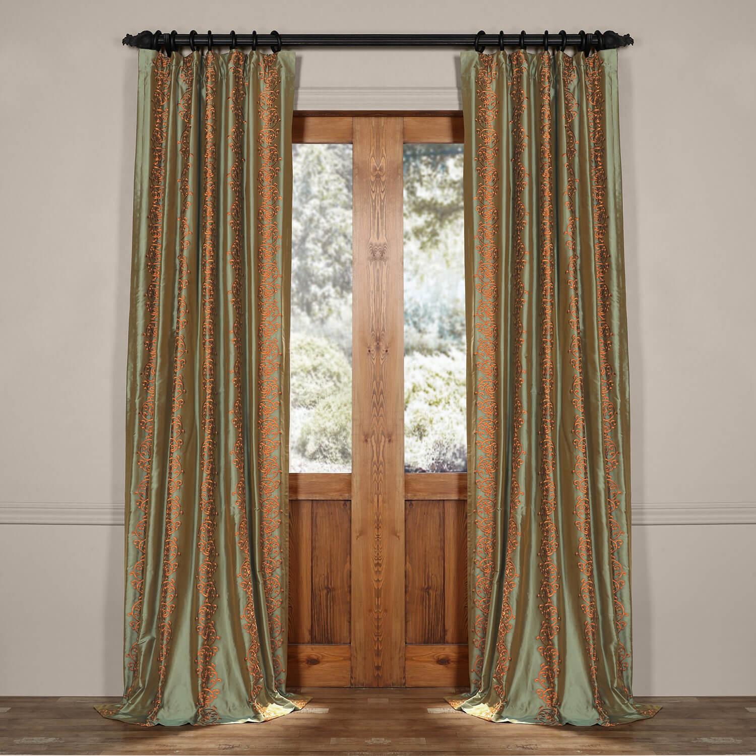 Bespoke silk curtains