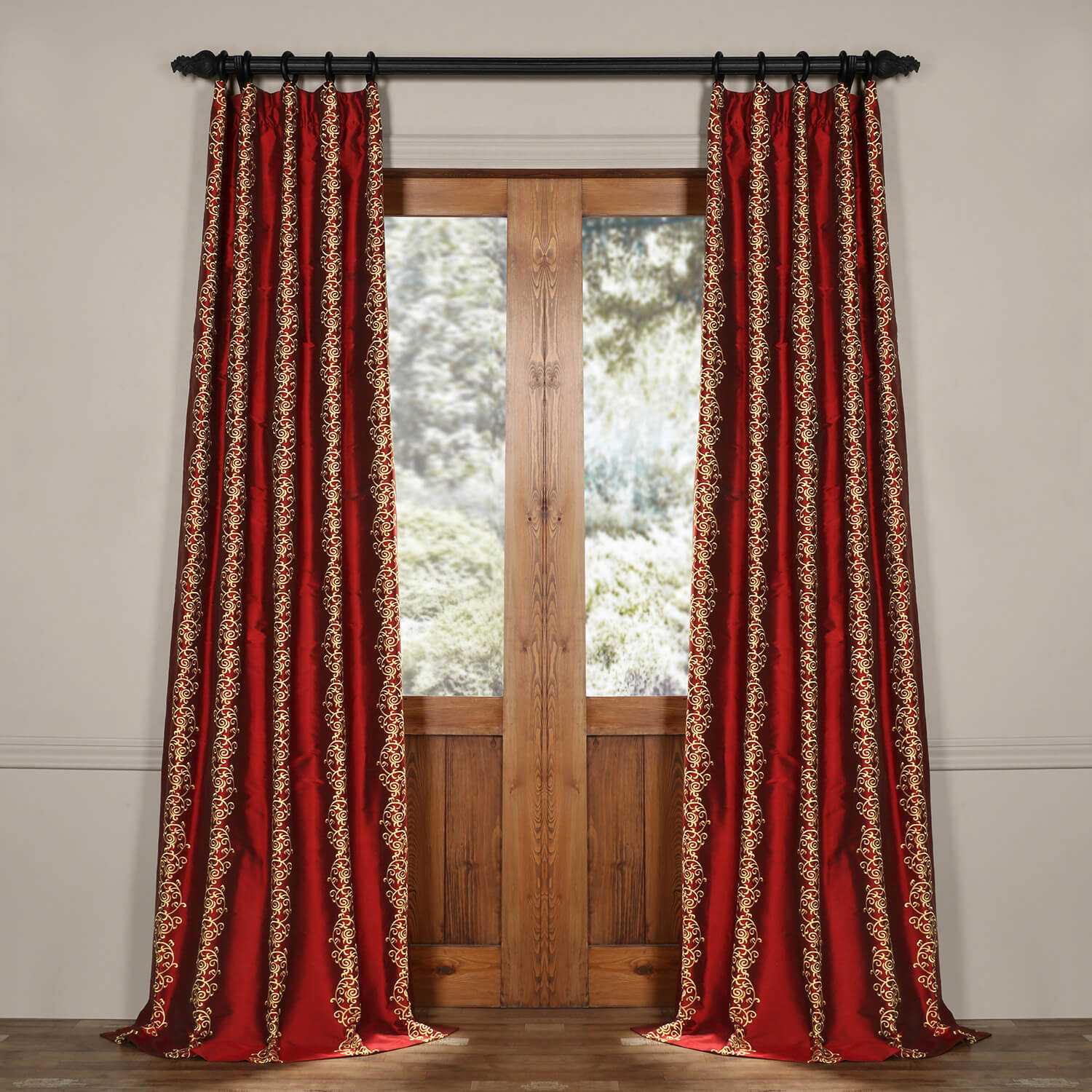 Dahlia Silk Curtain