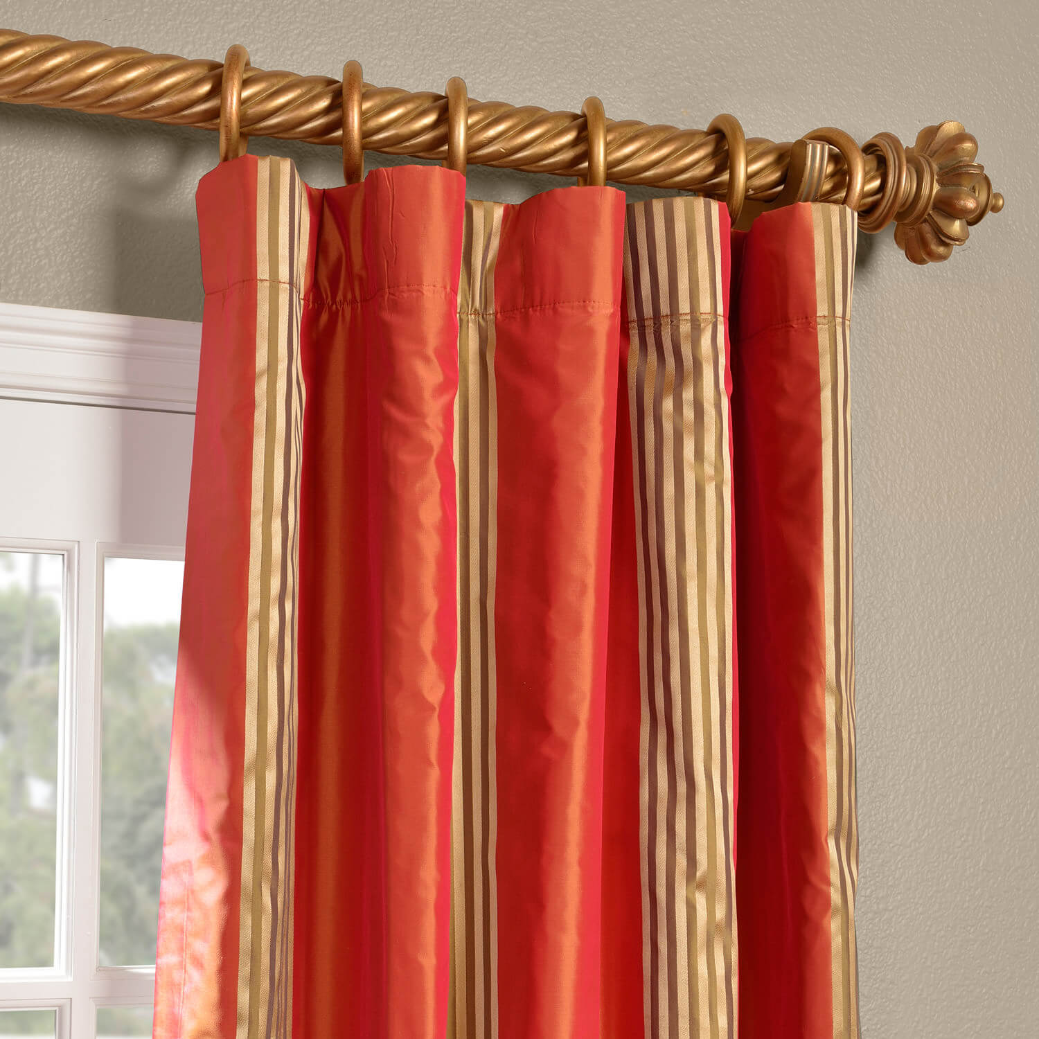 Waterford Sienna Silk Stripe Curtain