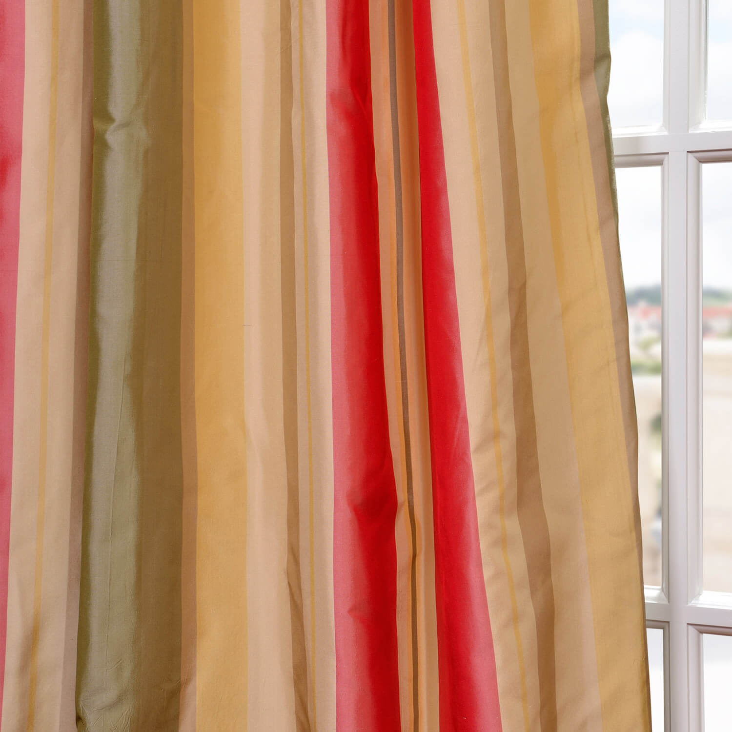 Bellevue Silk Taffeta Stripe Swatch