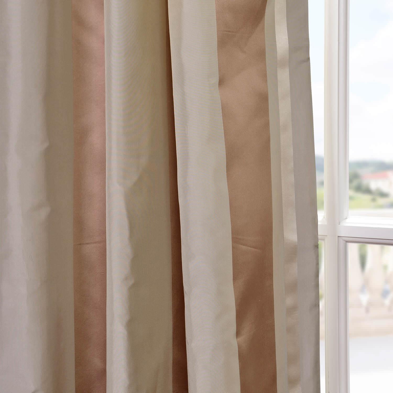 Dallas Silk Taffeta Satin Stripe Swatch