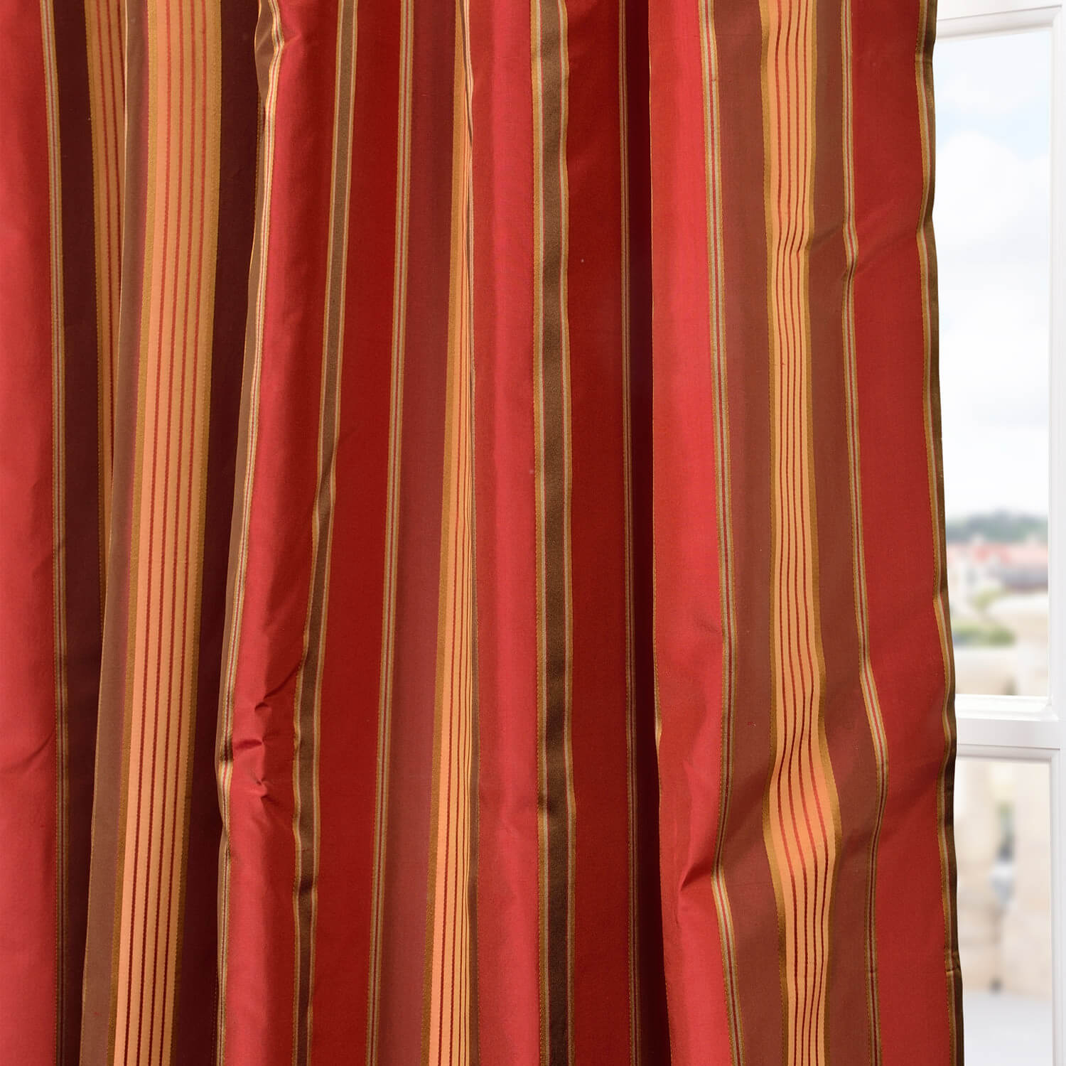 Melrose Silk Taffeta Satin Stripe Swatch