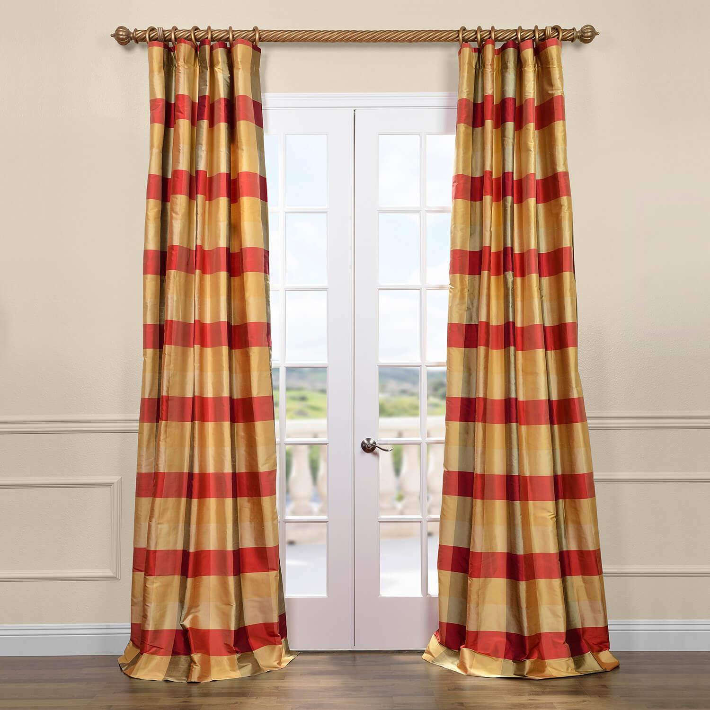 Dynasty Silk Taffeta Plaid Curtain