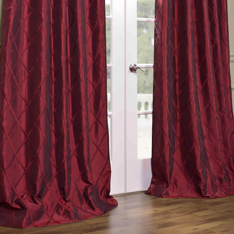 Alexandria Merlot Faux Taffeta Silk Curtain