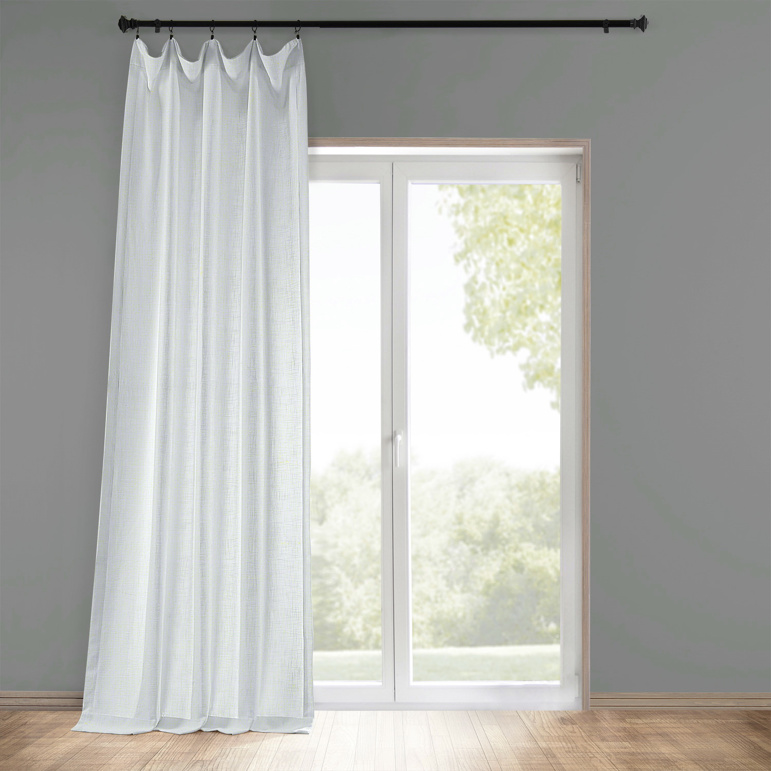 Faux linen curtains