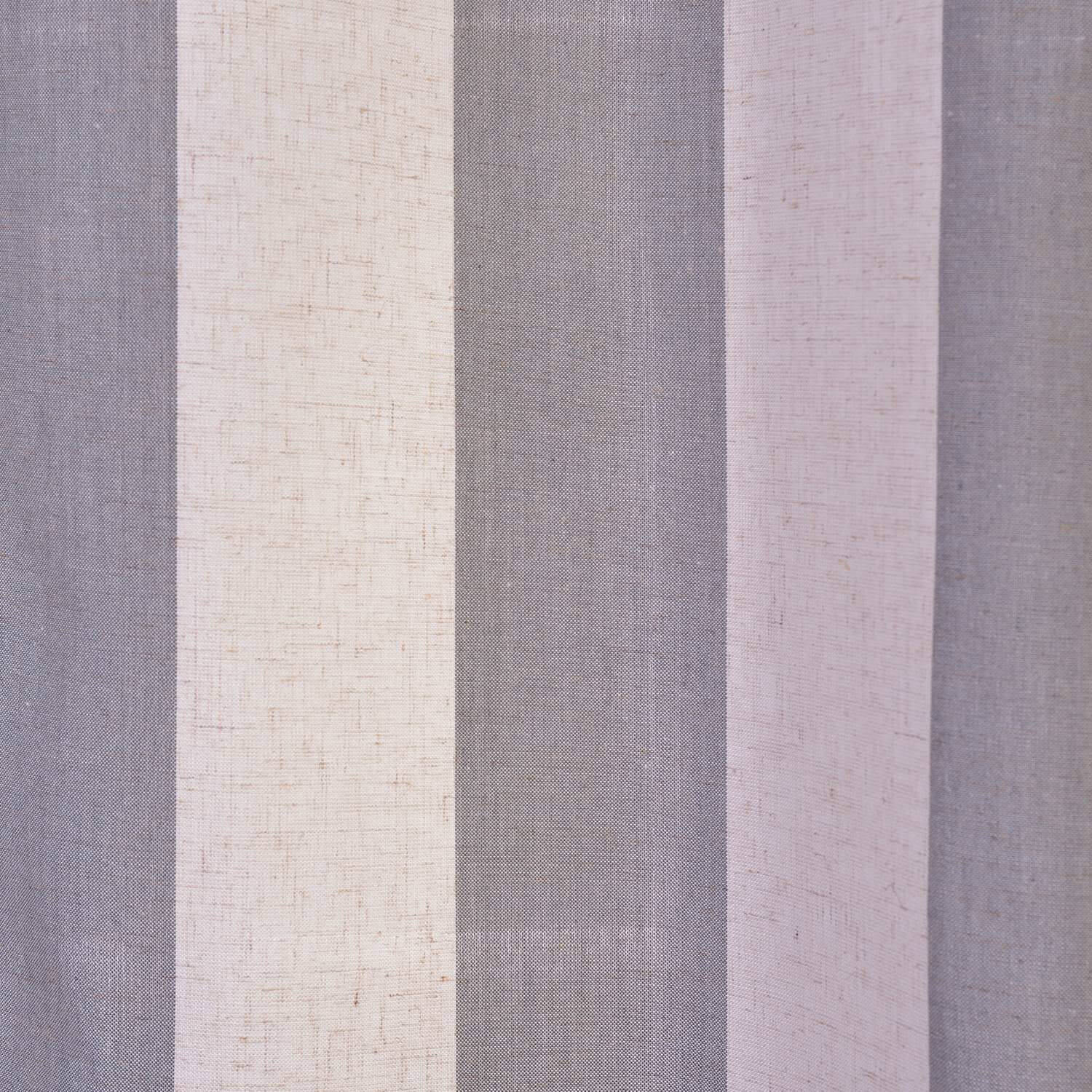 Bermuda Gray Linen Blend Stripe Swatch