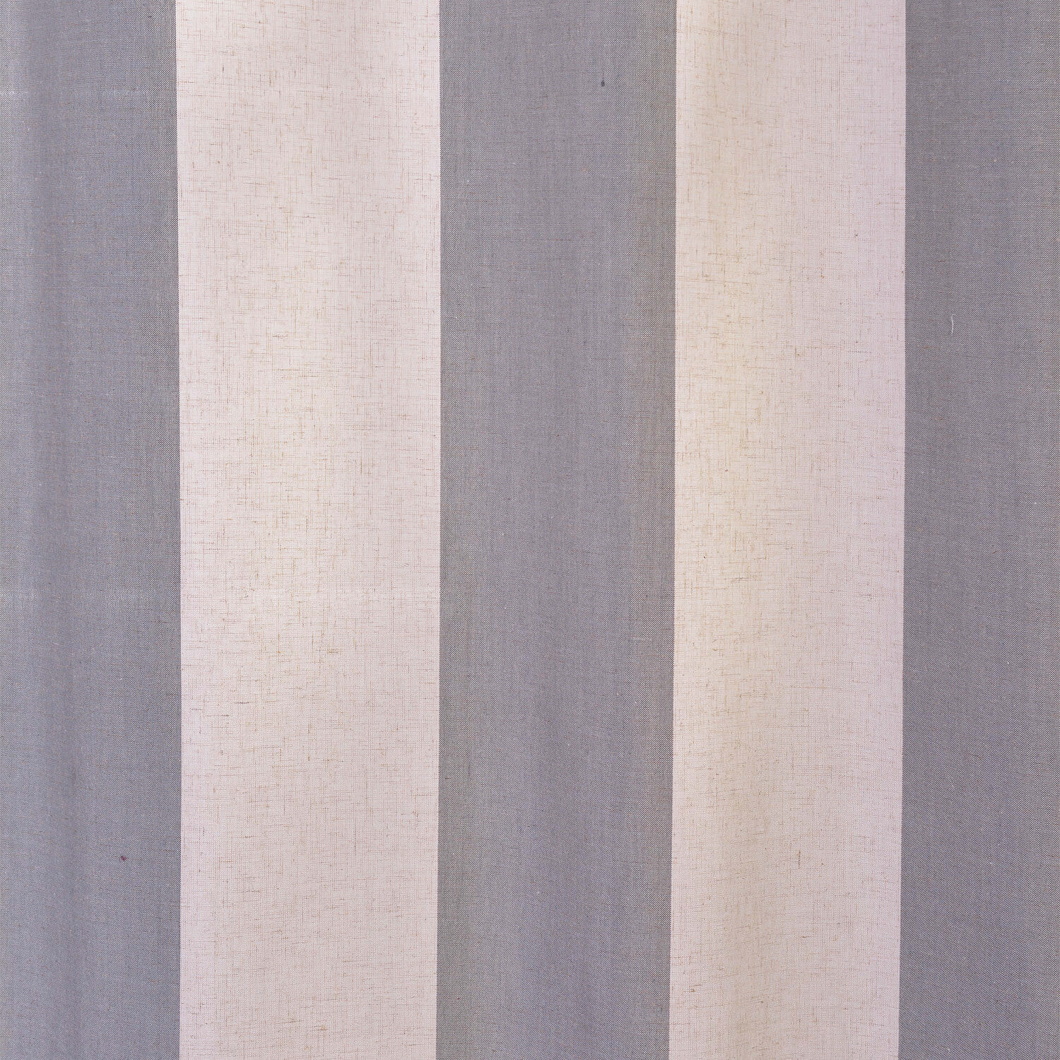 Del Mar Gray Linen Blend Stripe Swatch
