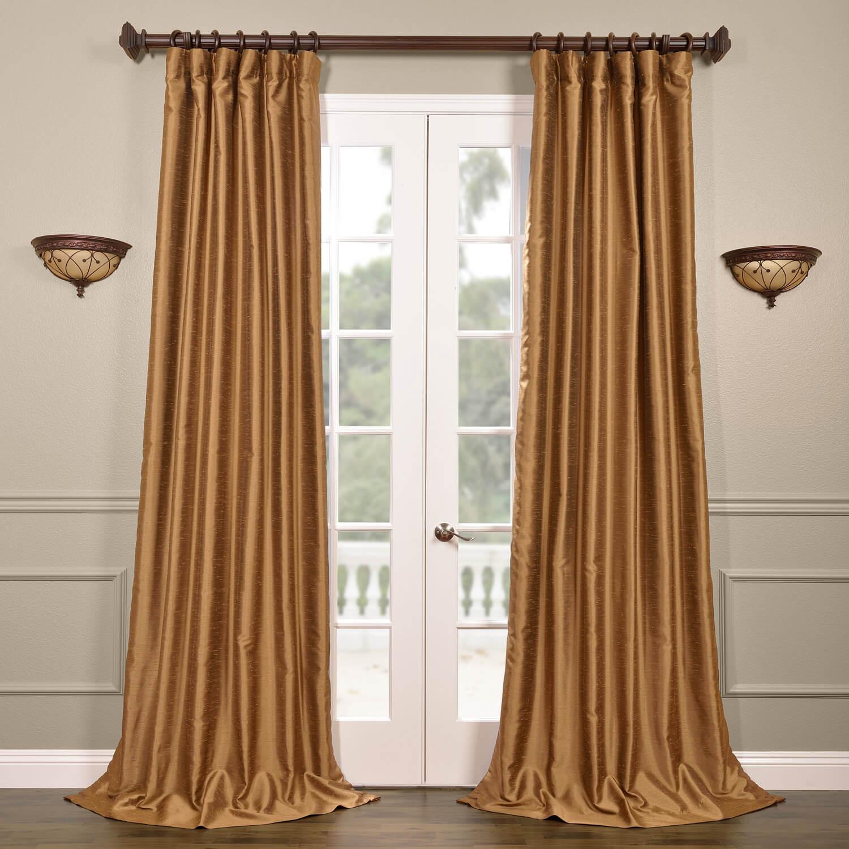 Empire Gold Yarn Dyed Faux Dupioni Silk Curtain