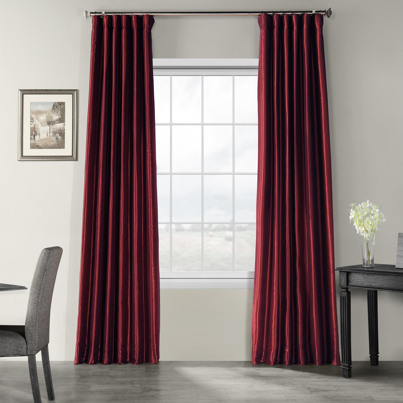 Mulberry Vintage Textured Faux Dupioni Silk Curtain