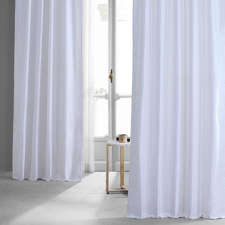 Ice Vintage Textured Faux Dupioni Silk Curtain