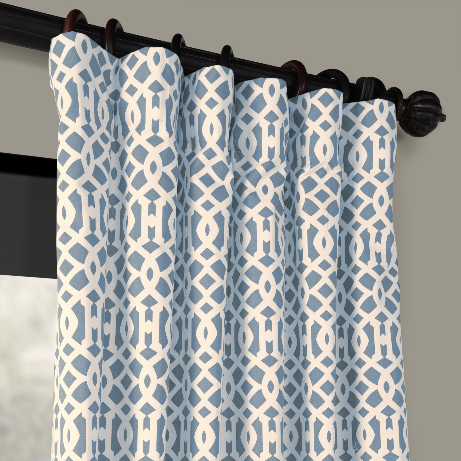 Nairobi Denim Printed Cotton Curtain