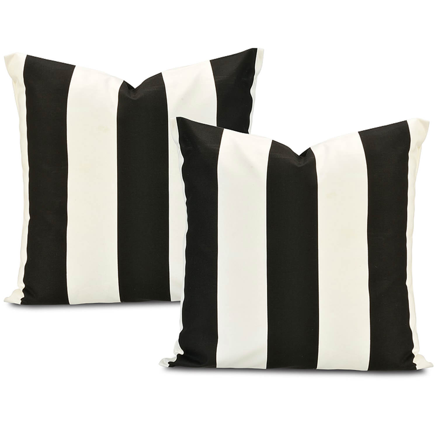 Cabana Black Printed Cotton Cushion Cover (Pair)