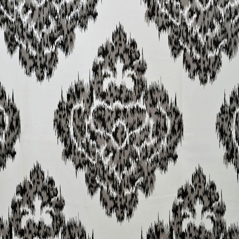 Ikat Black Printed Cotton Swatch