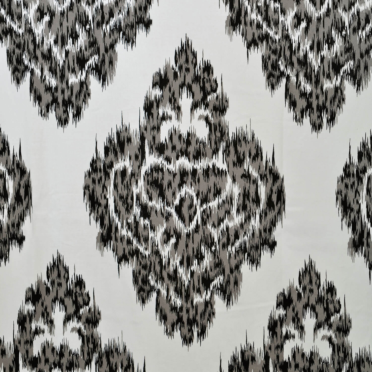 Ikat Black Printed Cotton Swatch