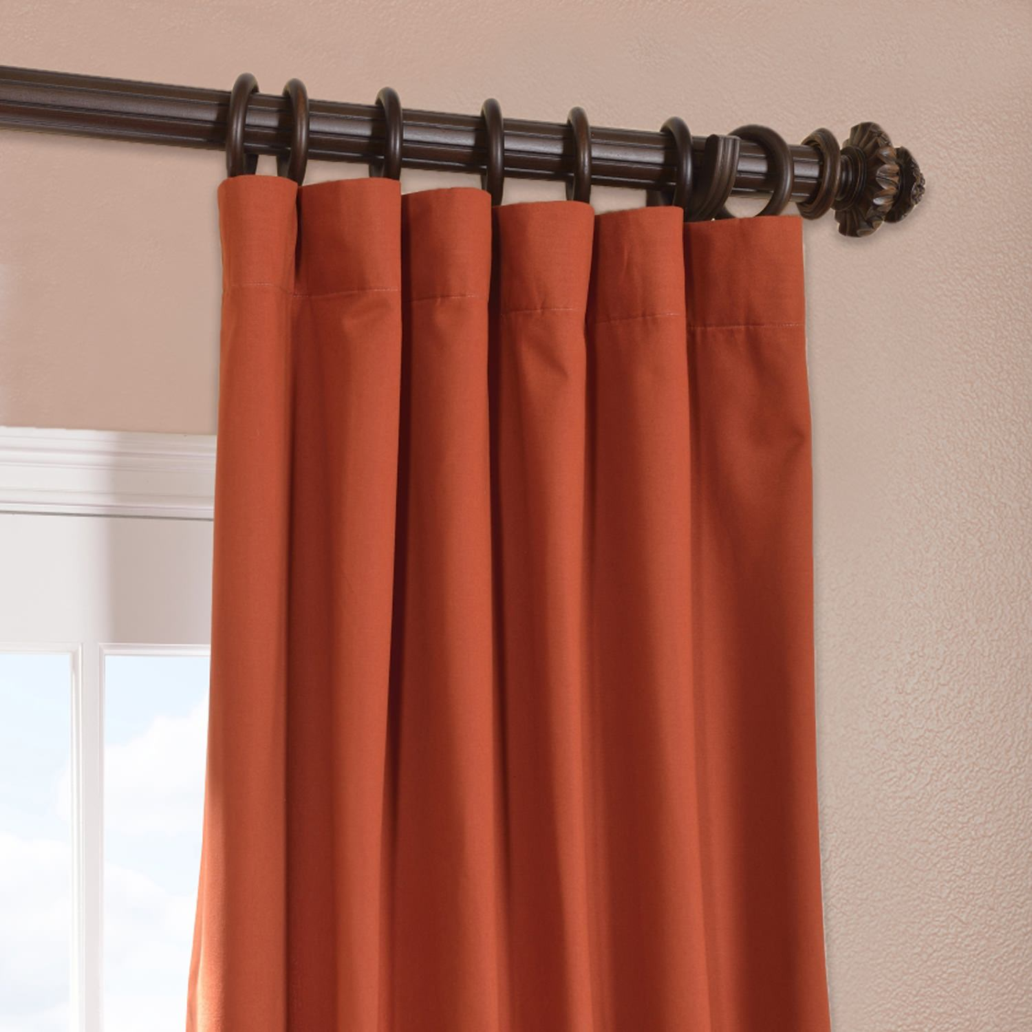 Bombay Rust Cotton Twill Curtain