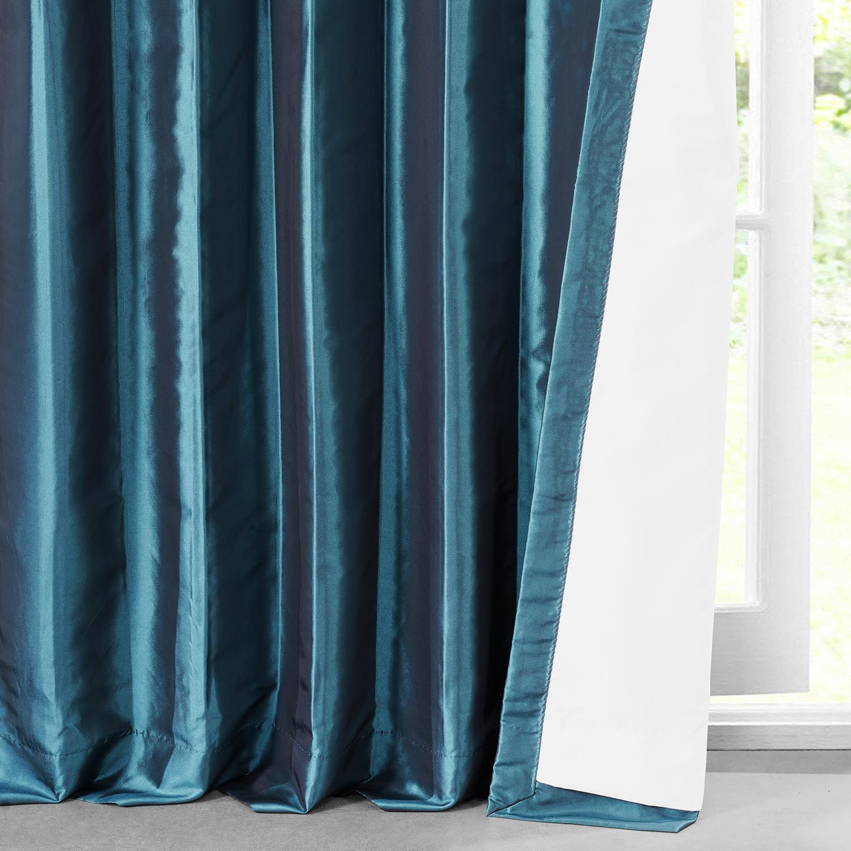 Mediterranean Faux Solid Taffeta Curtain