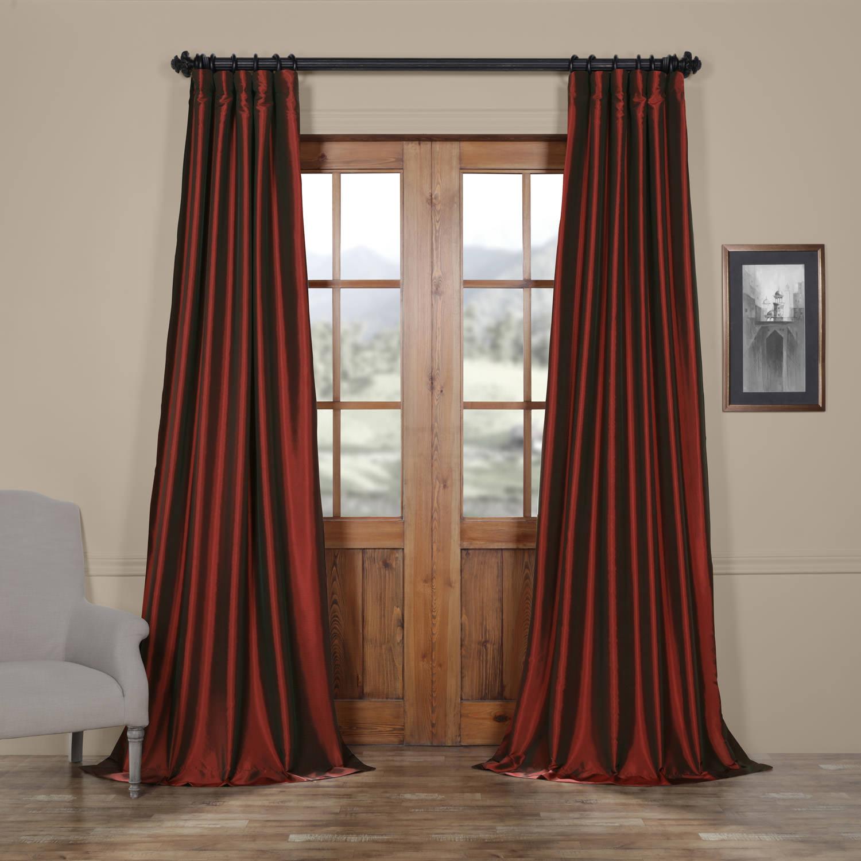 Syrah Faux Silk Taffeta Curtain