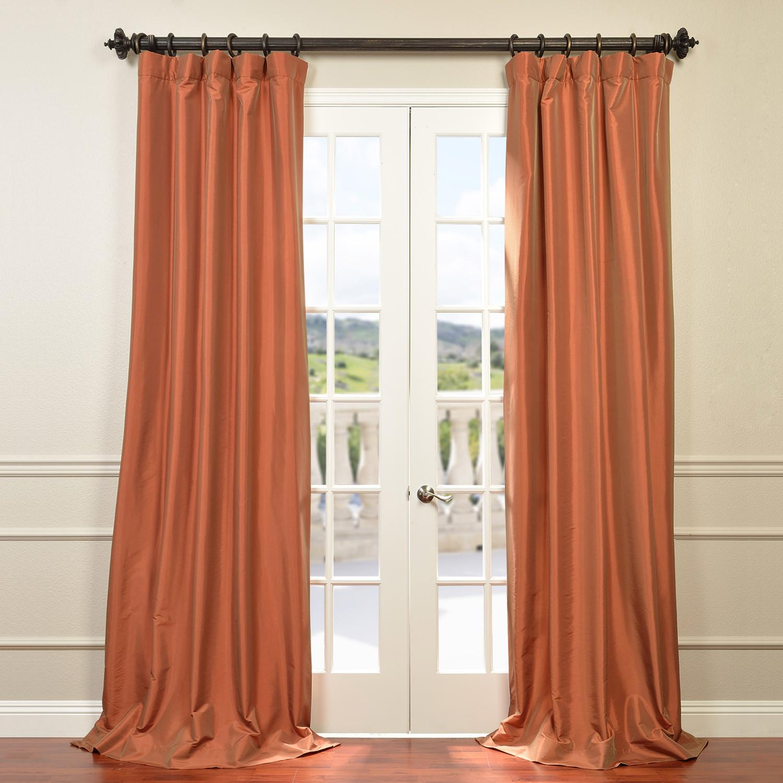 Harvest Orange Faux Silk Taffeta Curtain