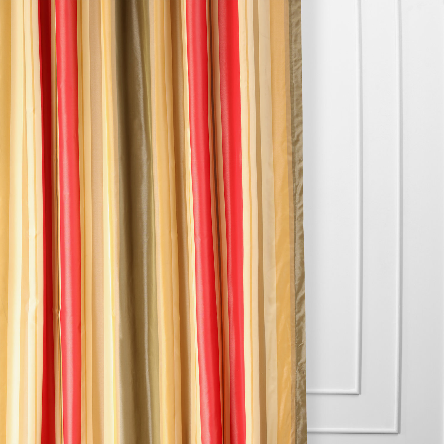 Orleans Faux Silk Taffeta Stripe Curtain
