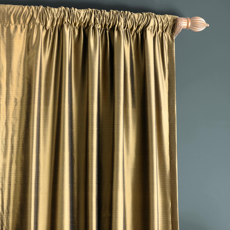 Sage Green Thai Silk Curtain