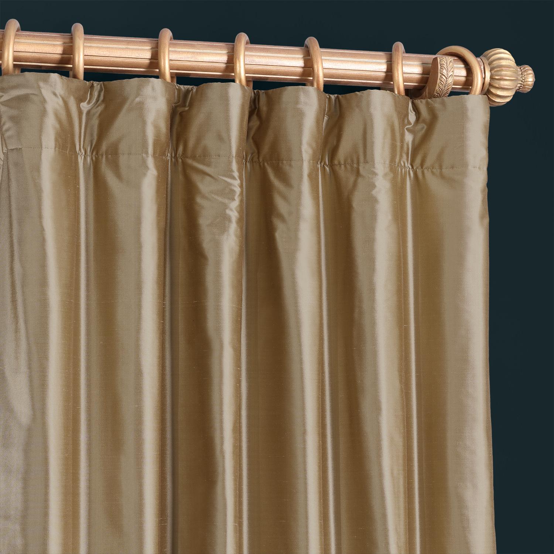 Gold Dust Thai Silk Curtain