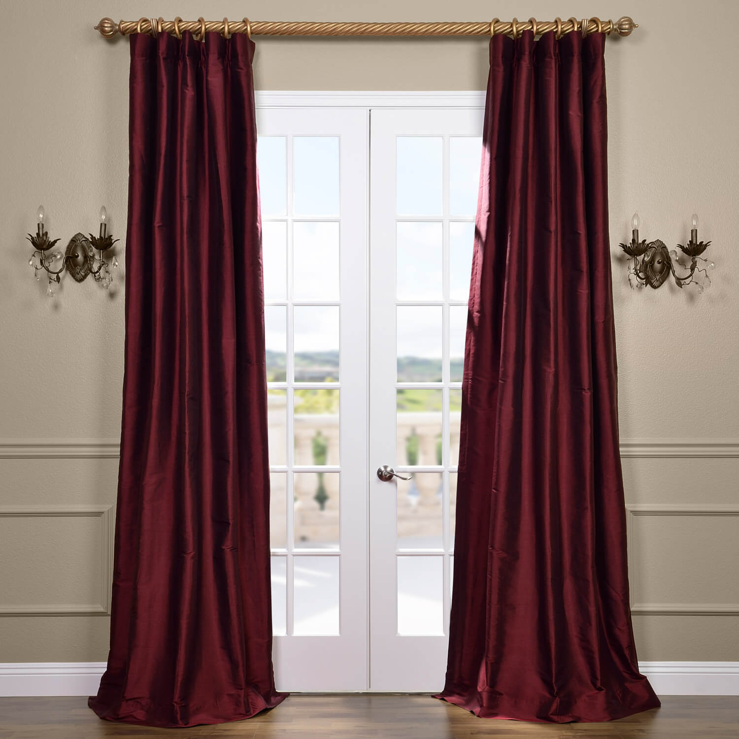 Merlot Thai Silk Curtain