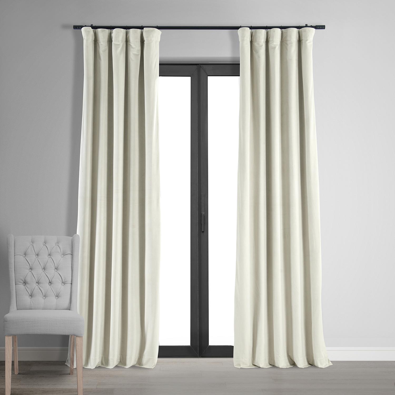 Signature Off White Blackout Velvet Curtain