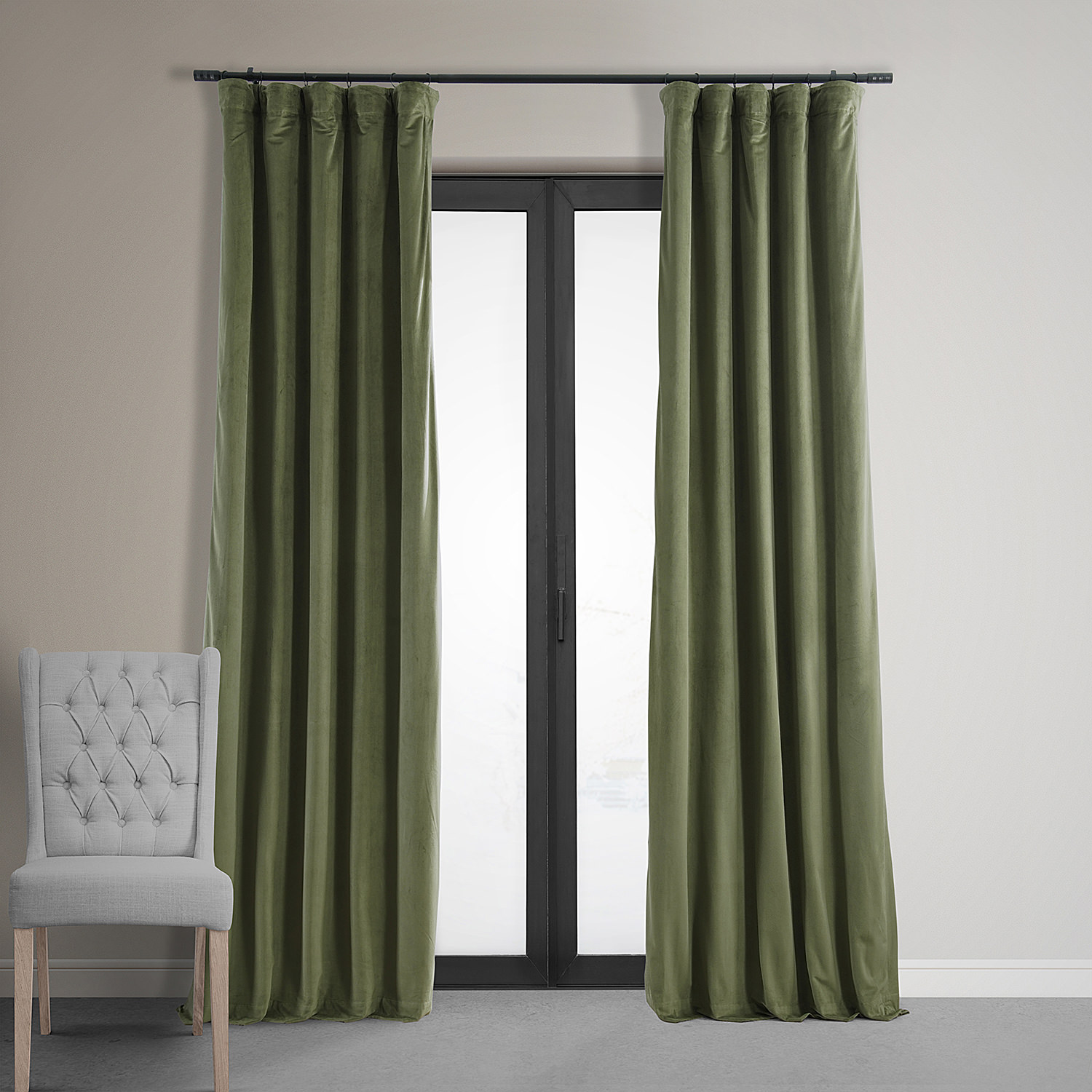 Signature Hunter Green Blackout Velvet Curtain