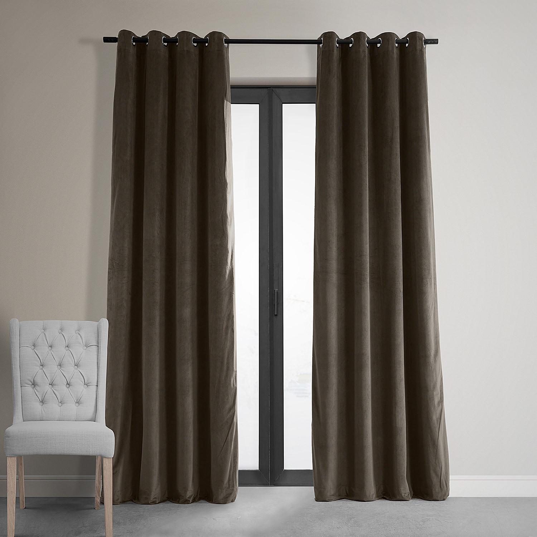Signature Java Grommet Blackout Velvet Curtain