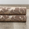 Astoria Taupe & Mushroom French Pleat Faux Silk Jacquard Curtain