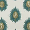 Mayan Teal Printed Cotton Swatch