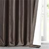 Mushroom Faux Silk Taffeta Curtain