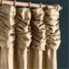 Ruched Gold Dust Thai Silk Curtain