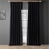 Midnight Black Thai Silk Curtain