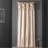 Ruched Pearl White Thai Silk