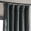 Signature Natural Grey Blackout Velvet Curtain