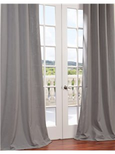 Heavy Faux Textured Linen Curtains