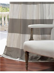 Horizontal Faux Silk Taffeta Stripes