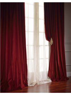 Vintage Double Wide Cotton Velvet Curtains