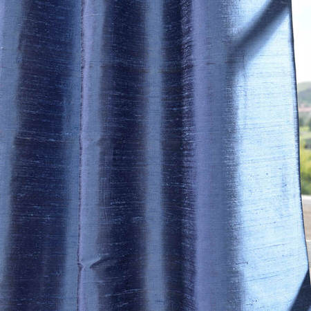 Winter Blue Textured Dupioni Silk Swatch