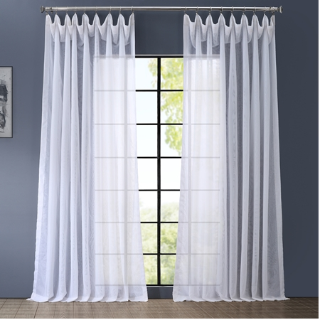 Signature  Double Wide White Sheer Curtain