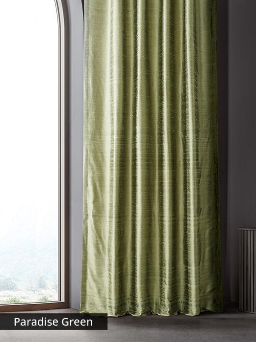 Textured Dupioni Silk Curtains