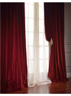 Vintage Double Wide Cotton Velvet Curtains