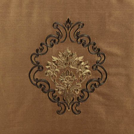 Taj Mahal Embroidered Silk Swatch