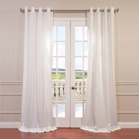 Cloud Faux Linen Grommet Curtain