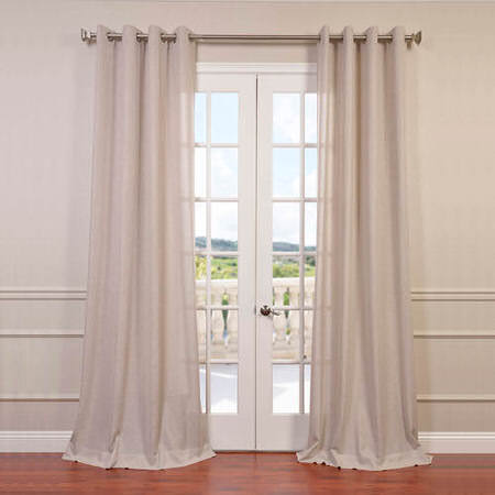 Pebble Rock Faux Linen Grommet Curtain