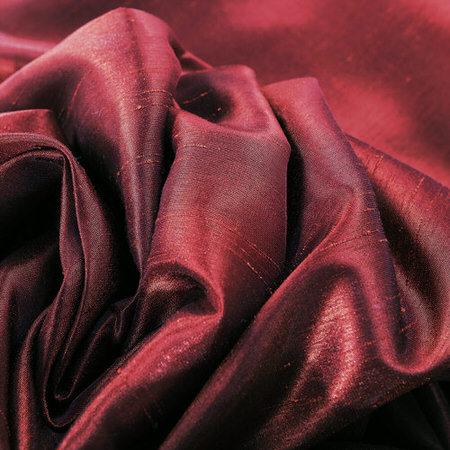 Mulberry Vintage Faux Textured Dupioni Silk Swatch