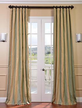 Orinda Faux Silk Taffeta Stripe Curtain