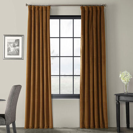 Signature Sable Blackout Velvet Curtain