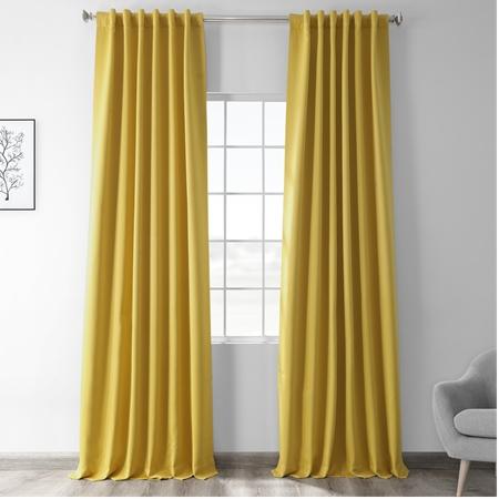 Solarium Yellow Blackout Curtain